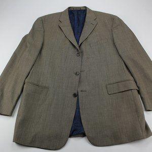 Vintage Tommy Hilfiger Men's Brown Wool Blazer 44R